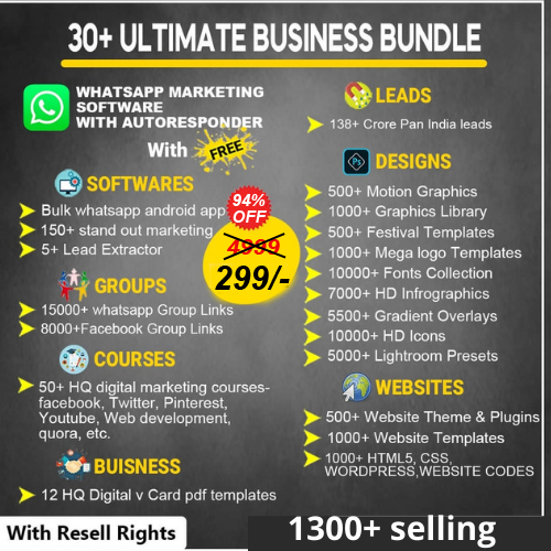 30+ Ultimate Business Bundle | Launcher Package